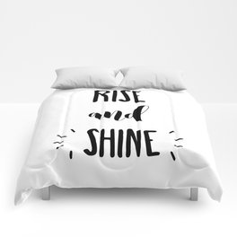 Rise And Shine Typography Comforters