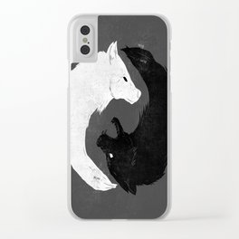 Feed the Wolves Clear iPhone Case