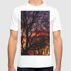 Winter Trees White Mens Fitted Tee MEDIUM