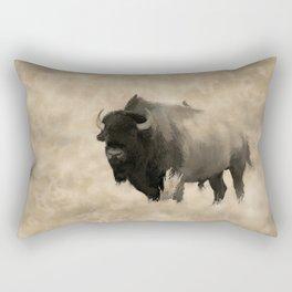 American Buffalo  -  Plains Bison Rectangular Pillow