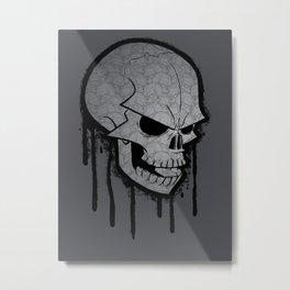 Skull Face Metal Print
