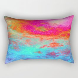 Galaxy : Bright Colorful Nebula Rectangular Pillow