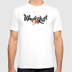 Wanderlust 02 White SMALL Mens Fitted Tee