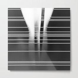 Stripes in Shape Metal Print