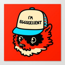 Eggscellent Canvas Print