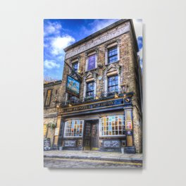 Prospect of  Whitby Pub London 1520  Metal Print
