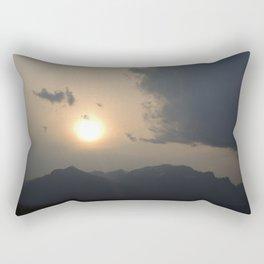 Sunset behind the Teton Mountains Rectangular Pillow