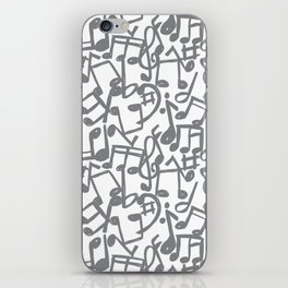music grey iPhone Skin