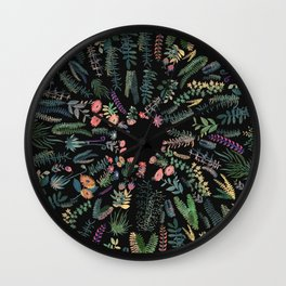 focus flowers Wall Clock