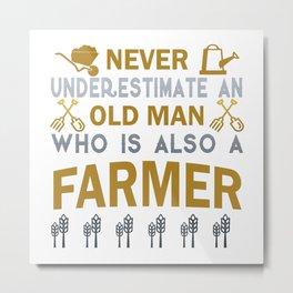 Old Man - A Farmer Metal Print