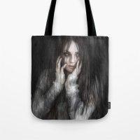 vampire Tote Bags featuring Vampire by Justin Gedak