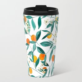Orange Summer Travel Mug