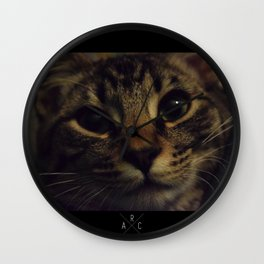 Cat named Zoey Wall Clock
