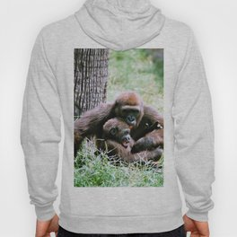 Mother Gorilla tickels her baby gorilla Hoody