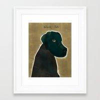 labrador Framed Art Prints featuring labrador black  by bri.buckley