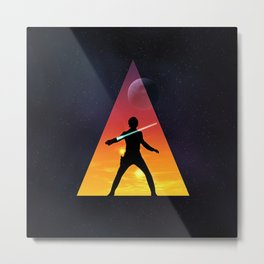 Jedi Space Triangle Metal Print