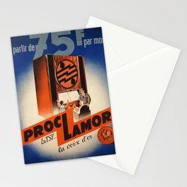 vintage Plakat a partir de 75 f par mois proclamor Stationery Cards