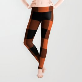 Burnt Orange Buffalo Plaid Leggings