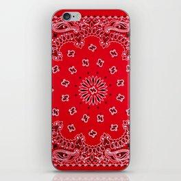 Paisley - Bandana Art - Red - Southwestern iPhone Skin