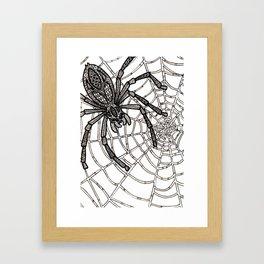 Jewelled Spider Framed Art Print