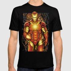 Iron man Mens Fitted Tee MEDIUM Black