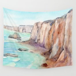 Cliffs at Normandie WC160404c-11 Wall Tapestry