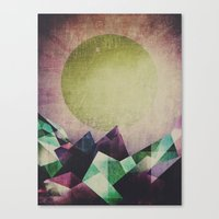 Canvas Prints featuring Top of the mountain by HappyMelvin