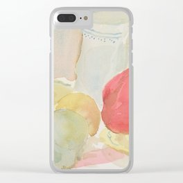 Still Life with Fruit and Crockery Clear iPhone Case
