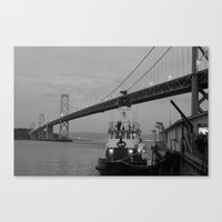 oakland Canvas Prints featuring Oakland Bay by DarkMikeRys