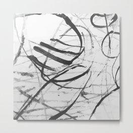 wild black strokes Metal Print