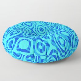 Mixed Polyps Blue - Coral Reef Series 036 Floor Pillow