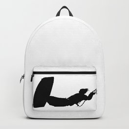 Getting High Kiteboarder Silhouette Backpack