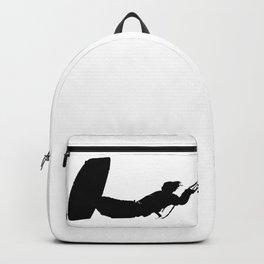Getting High Kiteboarder Silhouette Backpack
