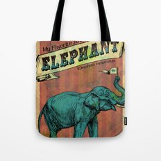 My Favorite Elephant Tote Bag