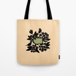Washington - State Papercut Print Tote Bag