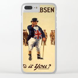 Vintage War posters Clear iPhone Case
