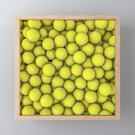 Tennis balls Framed Mini Art Print