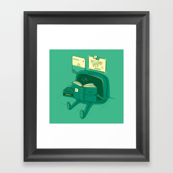 I will find the way! Framed Art Print