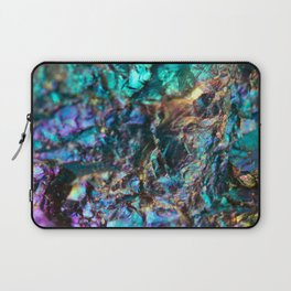 Turquoise Oil Slick Quartz Laptop Sleeve