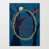 over the garden wall Canvas Prints featuring Over The Garden Wall by Tourmaline Design