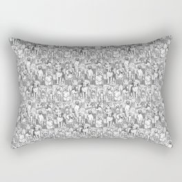 Sketched Dogs Rectangular Pillow