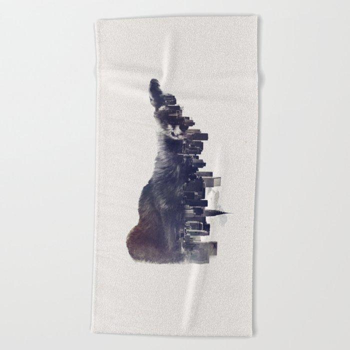 Fox from the City Beach Towel