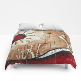 Sun in the desert Comforters