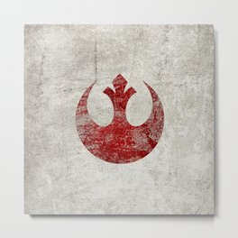 StarWars Rebel Alliance (Red) Metal Print