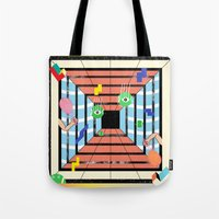 tennis Tote Bags featuring Tennis by Kamolsky