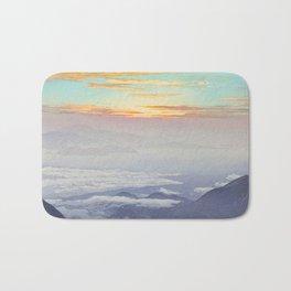 Sea of Clouds (Unkai, Ho-o-San) Hiroshi Yoshida Modern Japanese Woodblock Print Bath Mat