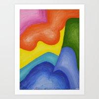 Abstracted Odd Shapes Art Print