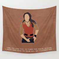 firefly Wall Tapestries featuring Firefly - Zoë by MacGuffin Designs