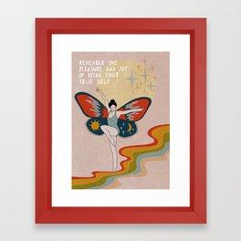 Remember the pleasue Framed Art Print