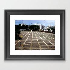 The Lone Vendor Framed Art Print